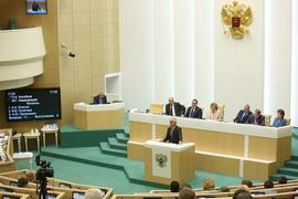 Павел Колобков выступил на заседании Совета Федерации в рамках «правительственного часа»