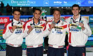 Чемпионат мира по водным спорта - 2019: российские пловцы завоевали «серебро» в кролевой эстафете 4х100 м