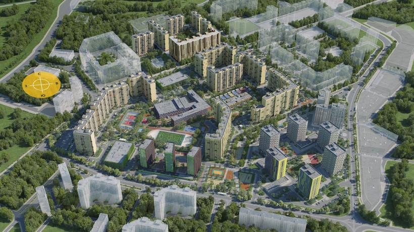 Еще 5 жилых корпусов построят на территории ЖК «Новое Медведково» в Мытищах 2023 году