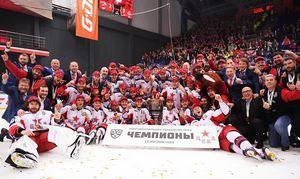 Хоккеисты московского ЦСКА впервые в истории выиграли Кубок Гагарина