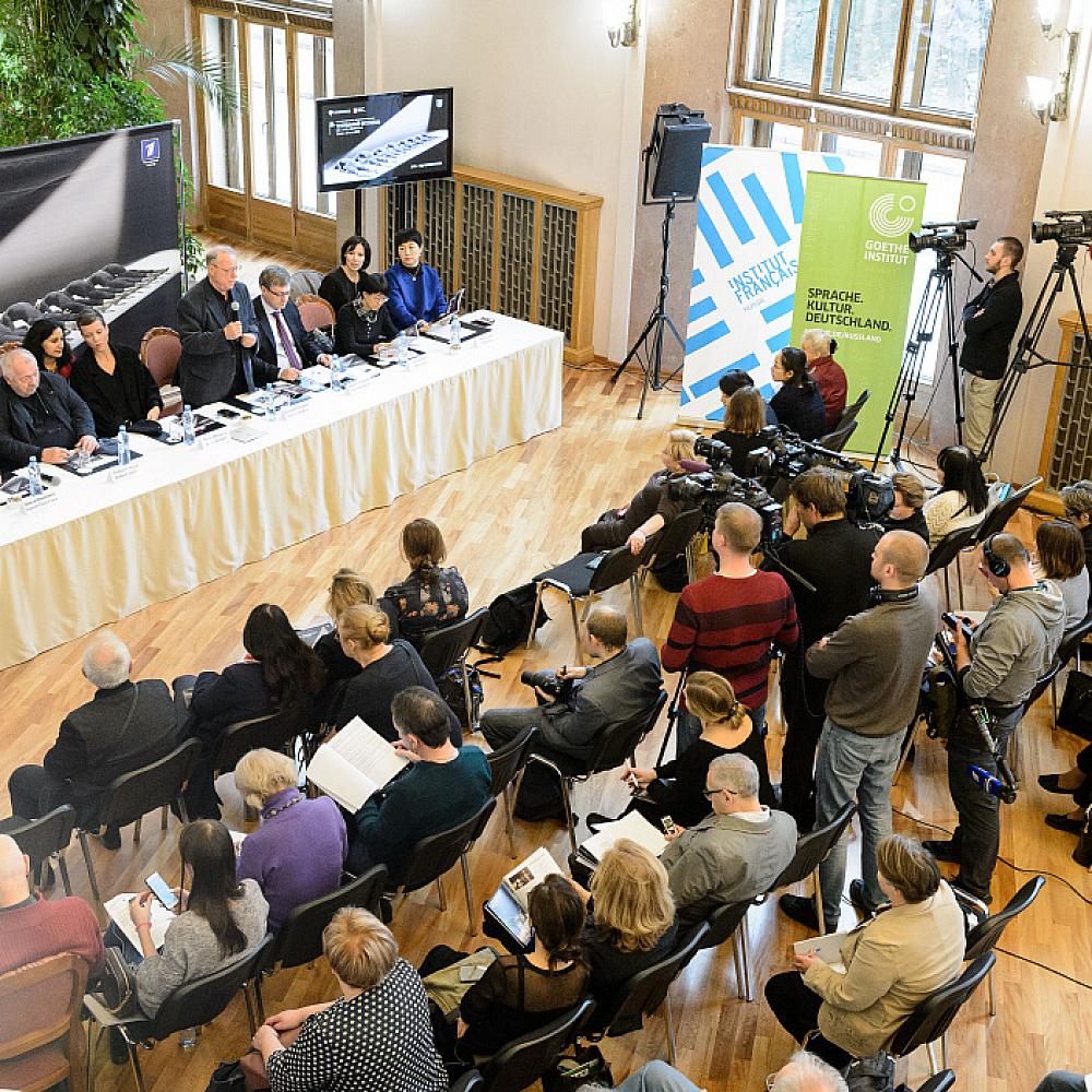 Пресс-конференция, посвященная открытию XIV Международного театрального фестиваля им. А.П. Чехова