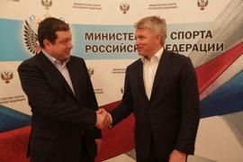 Рабочая встреча Павла Колобкова с губернатором Смоленской области Алексеем Островским