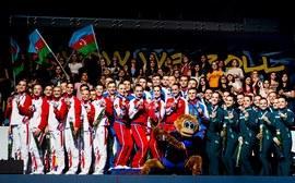Сборная России по спортивной аэробике первенствовала на Чемпионате Европы в Баку