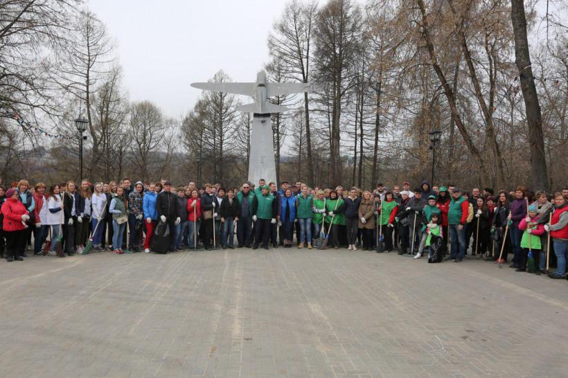 Сотрудники Министерства экономики и финансов Московской области приняли участие в общеобластном субботнике в городском округе Истра
