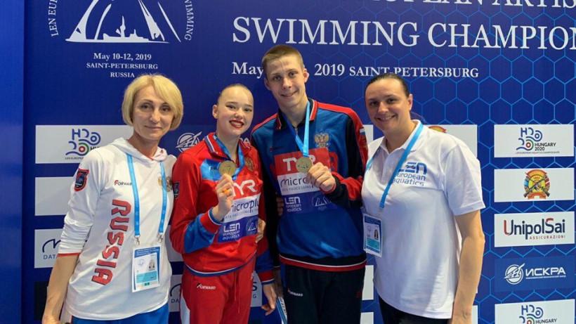 Спортсмены из Подмосковья заняли первые места на Кубке Европы по синхронному плаванию