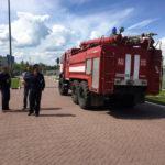 Во дворце водных видов спорта «Руза» прошла противопожарная тренировка