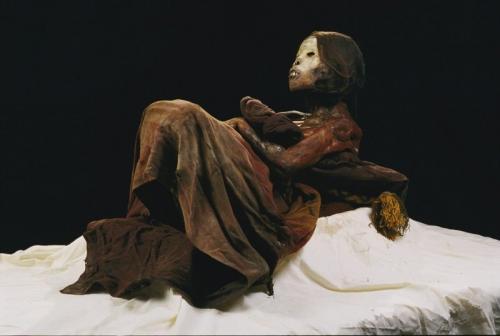 Мумия принцессы Укока, Алтай Мумию прозвали Алтайской принцессой. Считается, что Укока умерла в V-III веке до н.э. и относится к пазырыкской культуре Алтайского края.