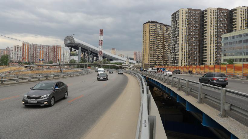 Воробьев на строительстве развязки в Красногорске