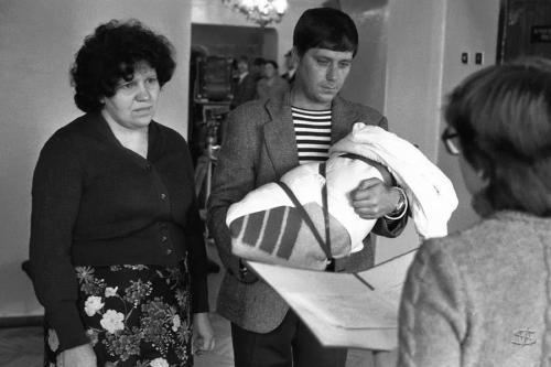 «Торжественная регистрация новорожденного», ЗАГС Центрального района, 1 октября 1983 года.