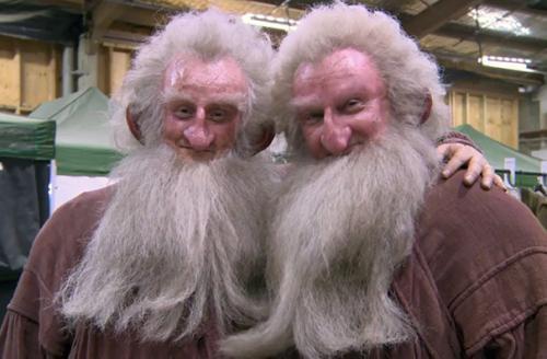 Кен Стотт и Питер Диллон на съемках «Хоббита».