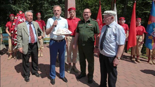 Горсть земли с солдатских захоронений из Люберец передадут в Главный храм ВС РФ