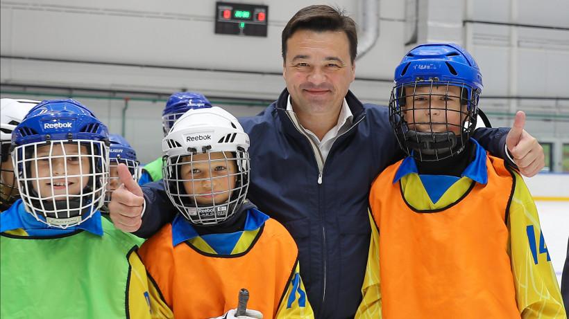 Губернатор проверил готовность к открытию ФОКа имени Владимира Петрова в Красногорске