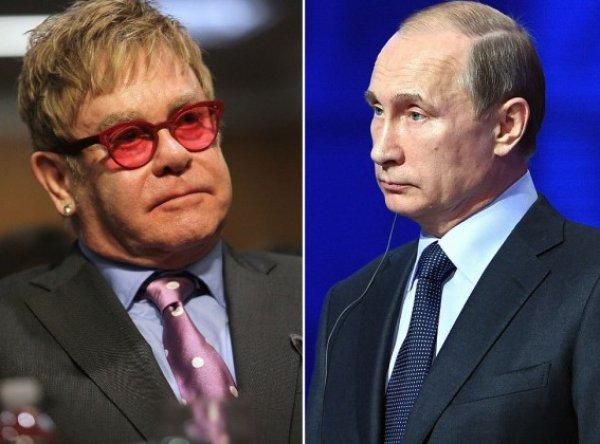 """""""Это лицемерие"""": Элтон Джон обвинил Путина в двуличности"""