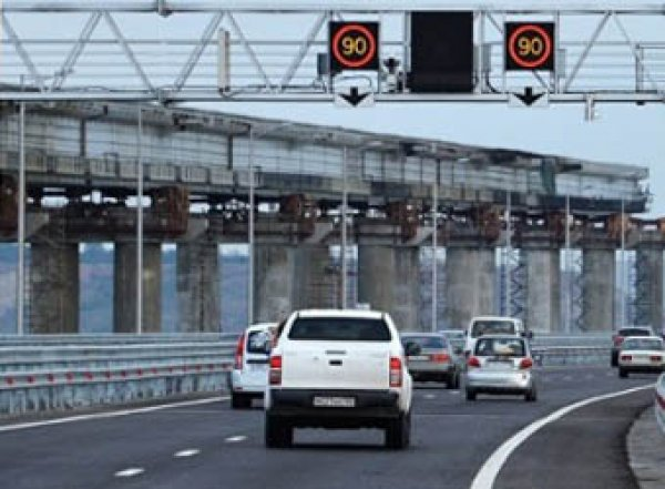 На Крымском мосту зафиксирован новый рекорд превышения скорости