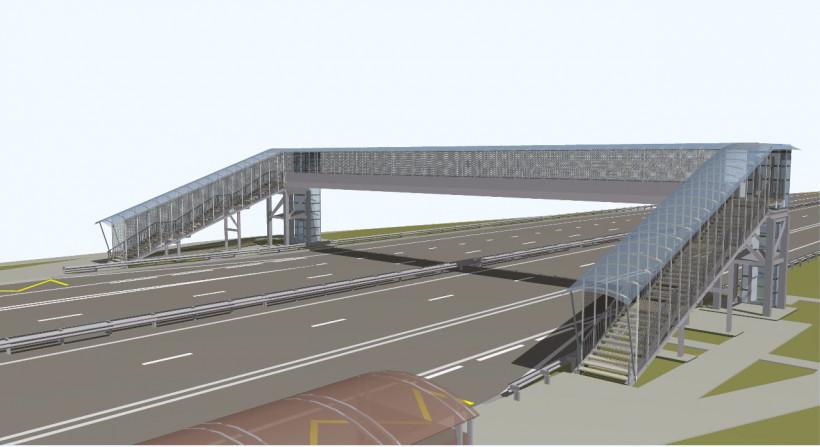 Новый пешеходный переход через трассу М-11 в Химках начнут строить в 2020 году