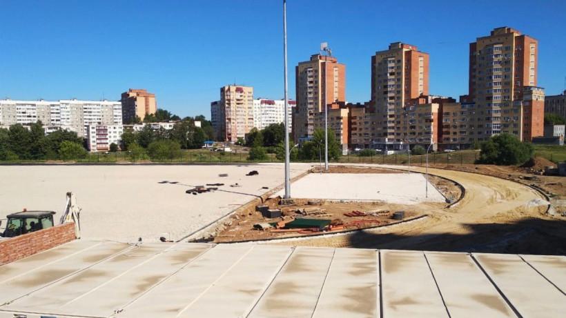 Реконструкцию стадиона «Химик» в Чехове завершат в конце августа