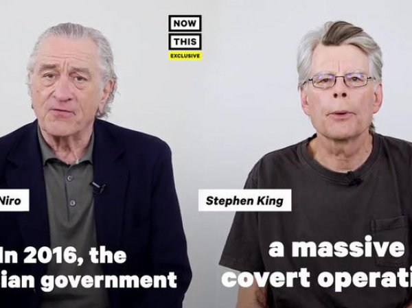Роберт де Ниро и Стивен Кинг возмутили фанатов антироссийским роликом