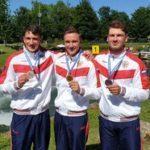 Россияне завоевали бронзовую медаль на Чемпионате Европы по гребному слалому в командных соревнованиях каноэ-одиночек