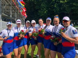 Россиянки выиграли «бронзу» на Чемпионате Европы по академической гребле в восьмёрке с рулевой