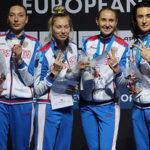 Сборная России по фехтованию одержала победу в общекомандном зачёте Чемпионата Европы в Германии