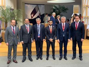 Состоялась встреча Павла Колобкова и генерального секретаря Оргкомитета Чемпионата мира по футболу 2022 года Хасана аль-Тавади в рамках ПМЭФ'19
