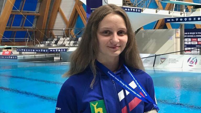 Спортсменка из Подмосковья заняла второе место на первенстве Европы по прыжкам в воду