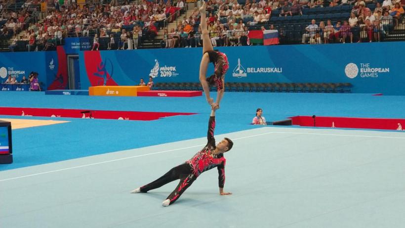 Спортсмены из Подмосковья завоевала золото II Европейских игр по спортивной акробатике