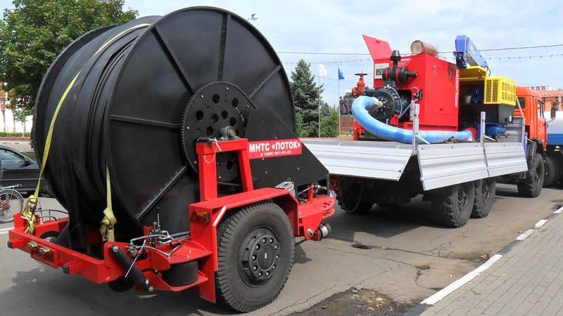 Технику областной аварийно-восстановительной службы направили к местам подтопления