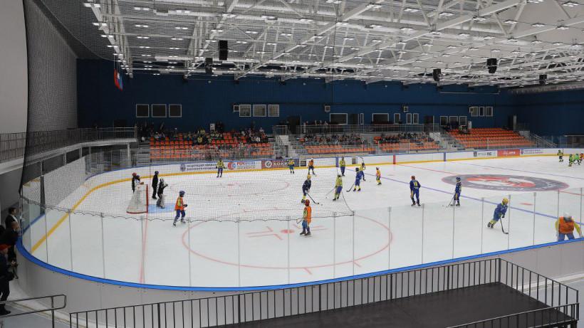 Воробьев, Овечкин и Михайлов проверили готовность ледовой арены в Красногорске к открытию