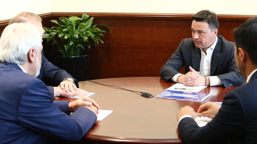 Воробьев провел рабочую встречу с Президентом Торгово-промышленной палаты РФ