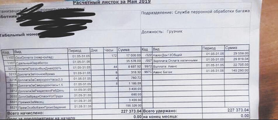 """200 тысяч - это не миф: фото зарплатного квитка грузчика """"Шереметьево"""" появилось в Сети"""