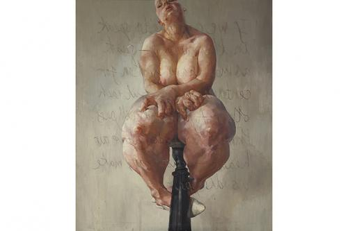 4. Дженни Савиль Работа: Propped, 1992. Холст, масло. 213,4х182,9 см Дата и место продажи: Sothebys, Лондон. 5.10.2018. Эстимейт: $3 909 000 -5 212 000 Цена: $12 427 037