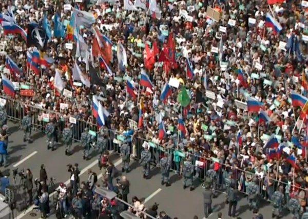 На митинг за свободные выборы в Мосгордуму в Москве пришли 20 тысяч человек