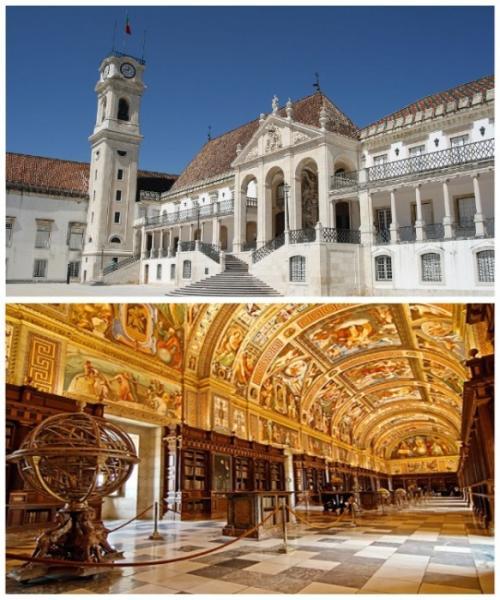 2. Университет Коимбры в Старом королевском дворце (Португалия) Коимбрский университет, который был основан королем Португалии Динишем I еще в 1290 г., считается одним из старейших университетов Европы. При этом он является не только самым престижным учебным заведением в Португалии, но и уникальным образцом средневековой архитектуры. Особое внимание эстетов заслуживают несколько объектов ВУЗА, среди которых выделяется главный корпус, расположенный в бывшем королевском дворце, старинный кафедральный собор Святого Креста (XII в.), капелла Архангела Михаила, башня-часовня XVIII в., музей церковного искусства, академическая библиотека имени Жуана, а также удивительный ботанический сад.
