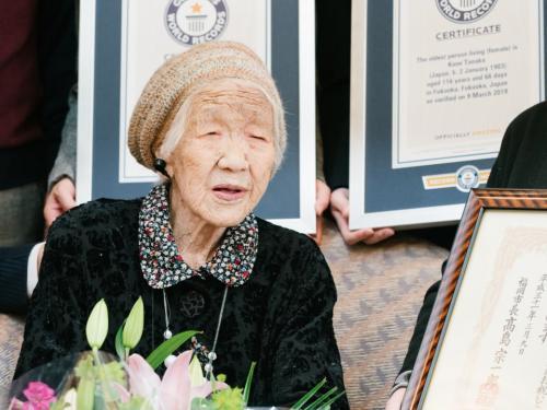 3. 116-летняя женщина Кейн Танака стала самой пожилой в мире.