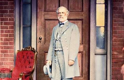 Генерал Роберт Э. Ли спустя неделю после капитуляции генерала Улисса С. Гранта, которая положила конец Гражданской войне, 16 апреля 1865 года.