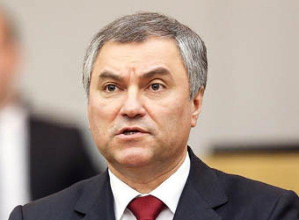 """Спикер Госдумы Володин предложил """"исправить"""" Конституцию РФ"""