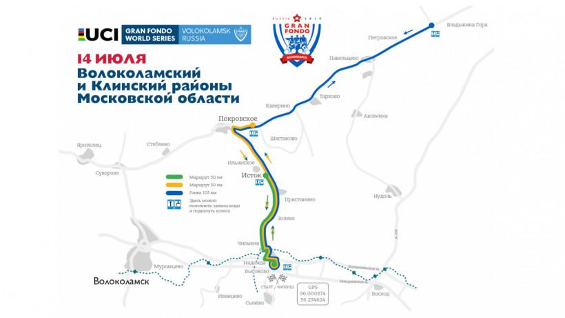 Велоезаезд «GRAN FONDO RUSSIA 2019» пройдет в Волоколамском округе и горокруге Клин 14 июля