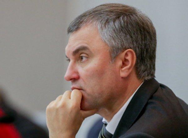 Володин потребовал у президента Грузии извинений перед россиянами