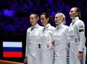 Женская сборная России по фехтованию на шпагах – серебряный призёр Чемпионата мира