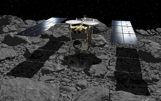 Зонд взял образцы материи астероида Рюгю