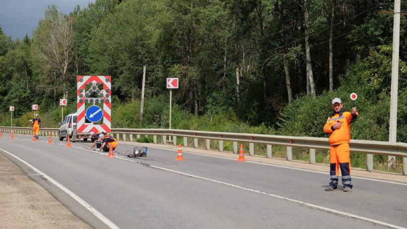 Более 160 км дорог Подмосковья оборудуют катафотами до конца года