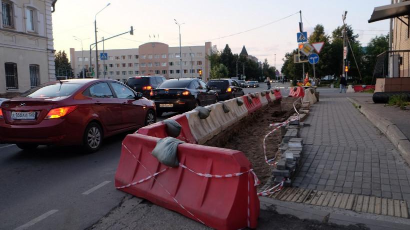 Обустройство дополнительных полос движения транспорта стартовало на перекрестке в Истре
