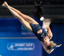 Россиянка Юлия Тимошинина выиграла бронзовую медаль на Чемпионате Европы по прыжкам в воду с вышки