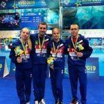 Российские прыгуны в воду – серебряные призёры командных соревнований на Чемпионате Европы в Киеве
