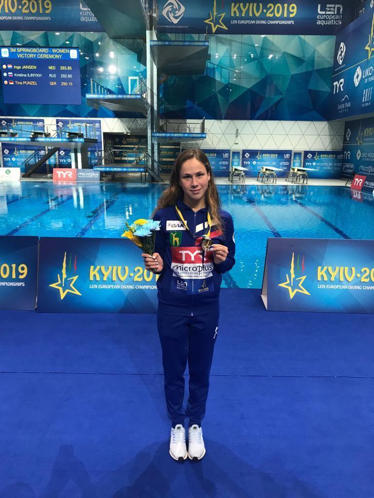 Серебряная медаль на чемпионате Европы по прыжкам в воду