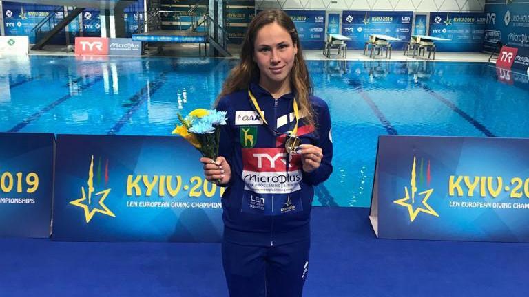 Спортсменка из Подмосковья заняла второе место на чемпионате Европы по прыжкам в воду