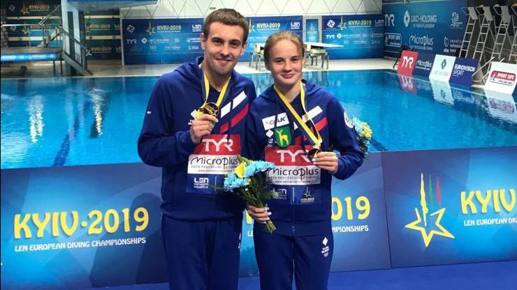 Спортсмены из Подмосковья завоевали две медали на чемпионате Европы по прыжкам в воду