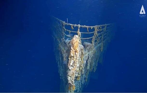 Титаник показали спустя 107 лет после катастрофы