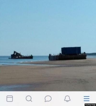 В Сети появилось фото и видео с предполагаемого места взрыва под Северодвинском